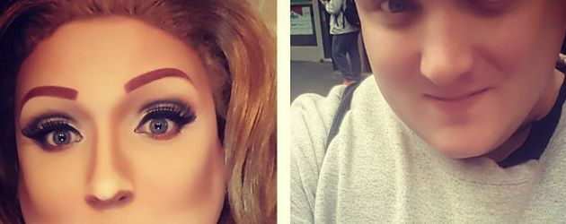 Drag-Queen Kris Zello als Adele-Double und privat