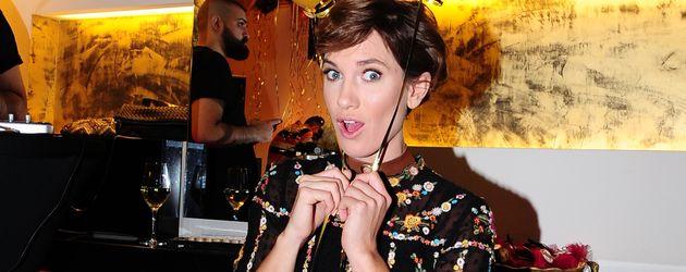 Isabell Horn beim einjährigen Jubiläum des Beautysalons Kokosh 2016 in Berlin