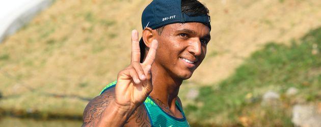 Isaquias Queiroz Dos Santos nach dem 200-Meter-Canadier Einer in Rio 2016
