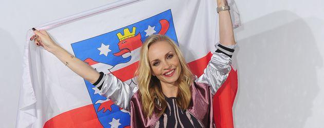 """Janin Ullmann beim Photocall für """"Deutschland tanzt!"""""""