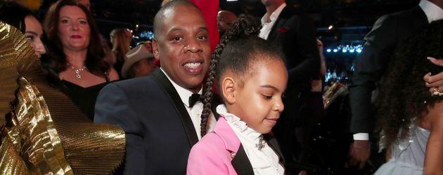 Jay-Z mit Blue Ivy bei den Grammy Awards 2017