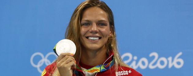 Julija Jefimowa gewinnt in Rio 2016 über 100-Meter-Brust Silber