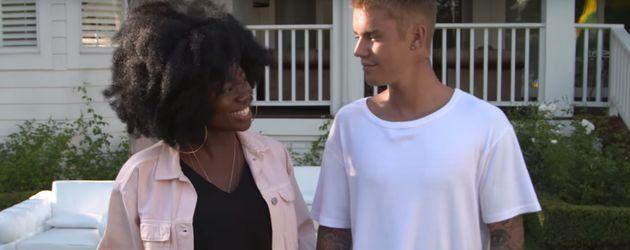 Justin Bieber mit Radiomoderatorin Clara Amfo