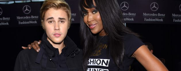 Justin Bieber und Naomi Campbell