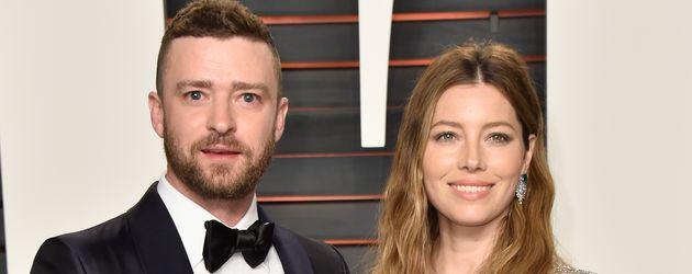 Justin Timberlake und Jessica Biel bei der Oscar-Verleihung 2016