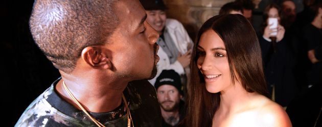 Kanye West und Kim Kardashian auf der Paris Fashion Week