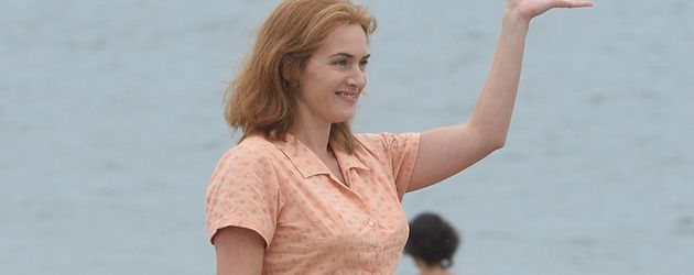 Kate Winslet beim Dreh des neuen Woody Allen Films in New York