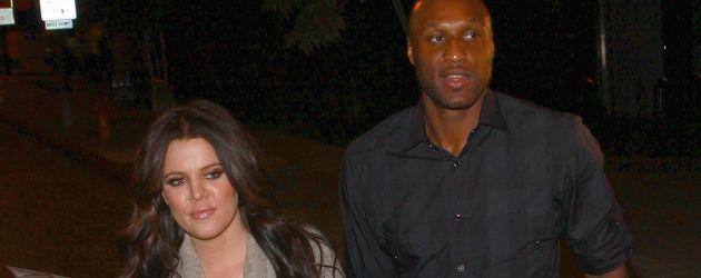 Khloe Kardashian und Lamar Odom in Los Angeles im Oktober 2011