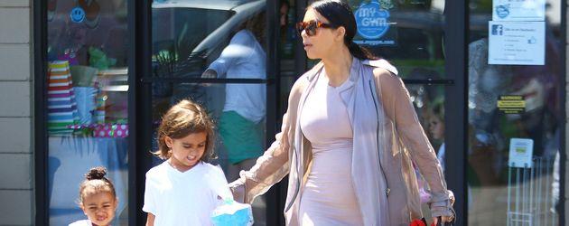 Kim Kardashian, North West und Mason Disick