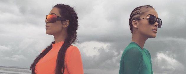 Kim Kardashian und Jasmine Sanders in Mexiko