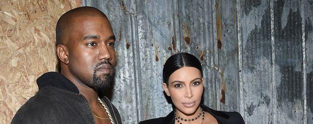 Kim Kardashian und Kanye West bei der New York Fashion Week 2015