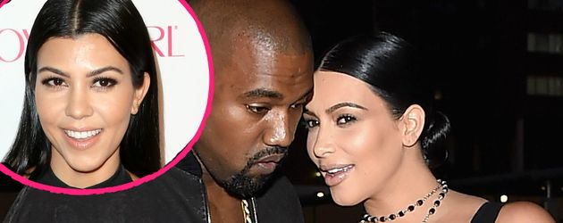 Kim Kardashian, Kanye West und Kourtney Kardashian