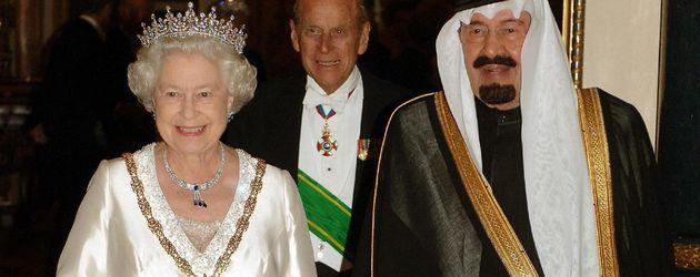 Queen Elizabeth II. und König Abdullah