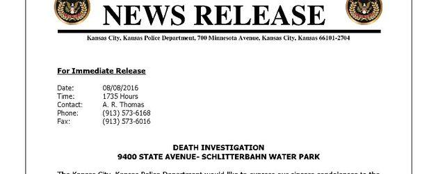 Kondolenzbrief der Polizei für Caleb Schwab