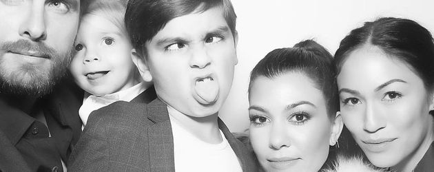 Kourtney Kardashians Xmas-Karte