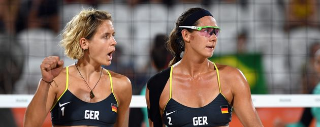 Laura Ludwig und Kira Walkenhorst bei Olympia 2016