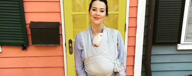 Laura Osswald mit ihrem Baby