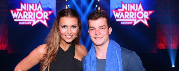 "Laura Wontorra mit ""Ninja Warrior Germany""-Gewinner Oli"
