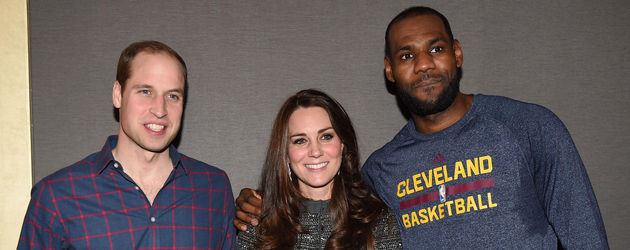 Herzogin Kate, Prinz William und LeBron James