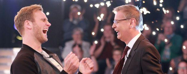 Leon Windscheid und Günther Jauch bei WWM