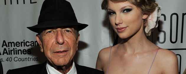 Musik-Legende Leonard Cohen und Sängerin Taylor Swift
