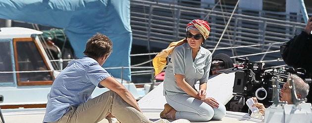 Lindsay Lohan auf einem Schiff
