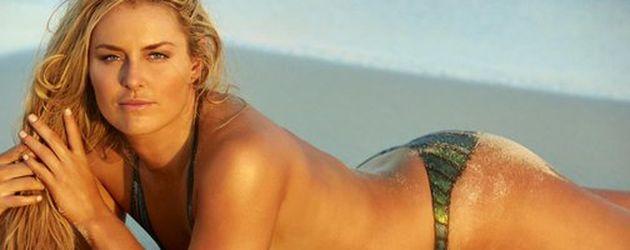 Lindsey Vonn bei einem Bodypaint-Fotoshooting