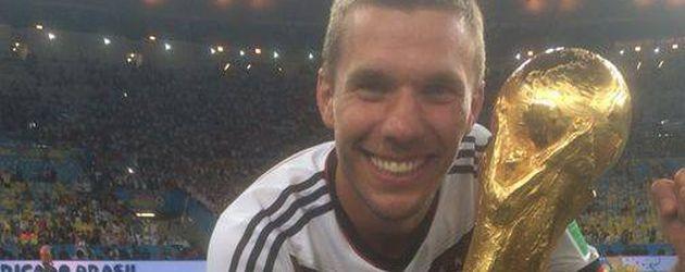 Lukas Podolski nach dem gewonnen WM-Finale