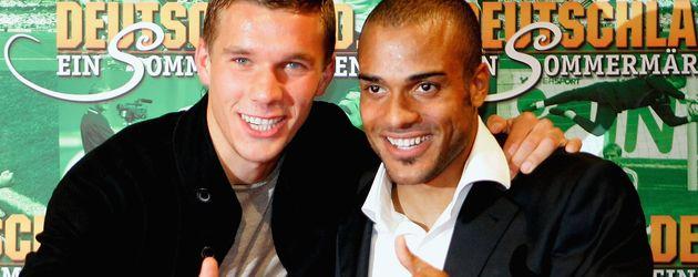 Lukas Podolski und David Odonkor