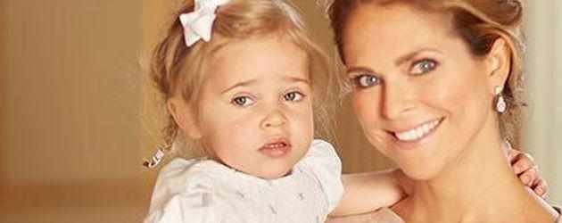 Madeleine von Schweden mit Töchterchen Leonore an der Taufe von Prinz Oscar in Stockholm