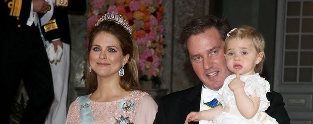 Madeleine von Schweden mit Chris O'Neill und Leonore