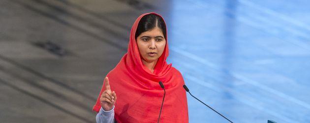 Malala Yousafzai bei der Friedensnobelpreis-Zeremonie 2014