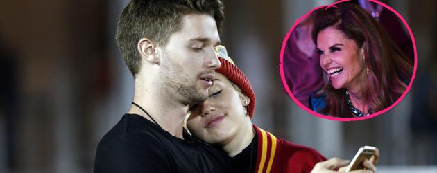 Miley Cyrus, Patrick Schwarzenegger und Maria Shriver