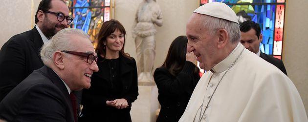 Martin Scorsese und Papst Franziskus im Vatikan