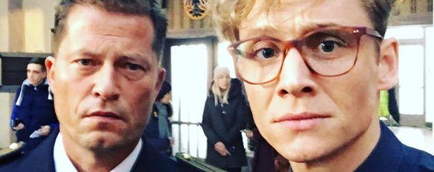 """Matthias Schweighöfer und Til Schweiger am Set von """"Hot Dog"""""""