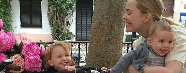 Melissa George mit ihren Söhnen Raphaël & Solal Samuel Glenn Blanc