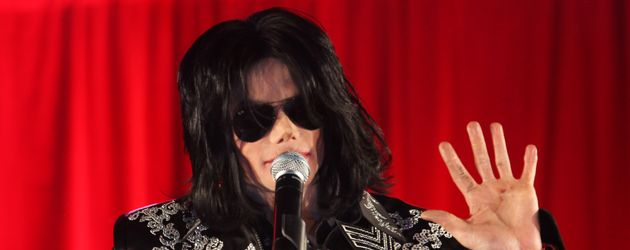 Michael Jackson bei der Präsentation seiner Sommer-Tournee 2009
