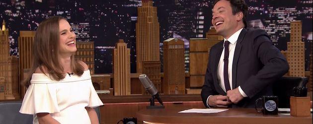 Natalie Portman und Jimmy Fallon