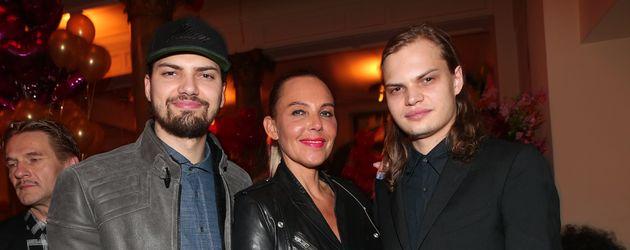 Natascha Ochsenknecht, Jimi Blue Ochsenknecht und Wilson Gonzalez Ochsenknecht