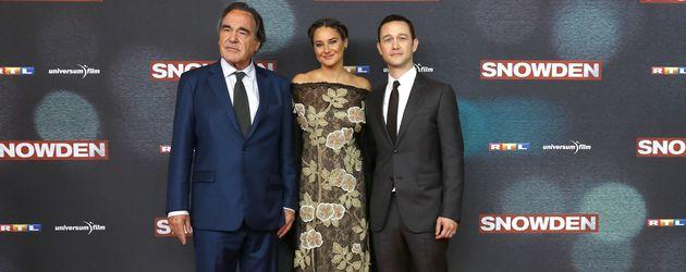 """Oliver Stone, Shailene Woodley und Joseph Gordon-Levitt bei der """"Snowden""""Europapremiere in München"""