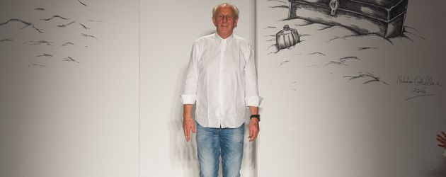 Designer Paul Costelloe auf der Londoner Fashion Week 2016