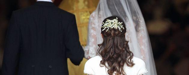 Pippa Middleton als Brautjungfer ihrer Schwester, Herzogin Kate
