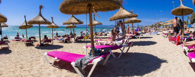 Playa de Palma auf Mallorca, bekannt als Ballermann