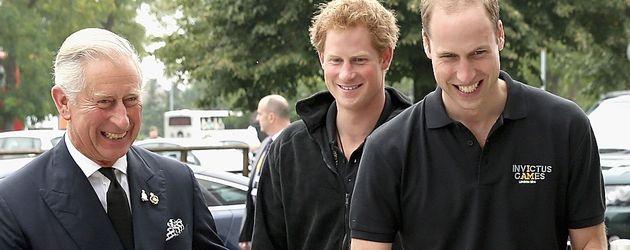 Prinz Harry, Prinz William und Prinz Charles