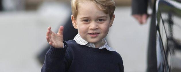 Prinz George am letzten Tag der royalen Kanada-Reise