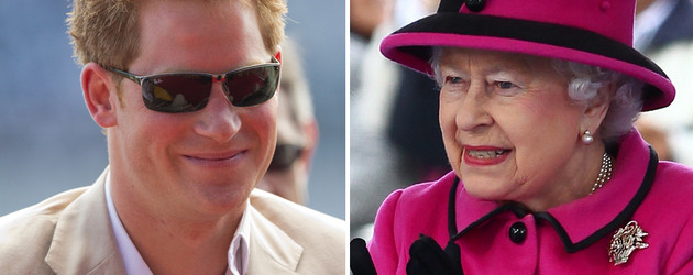Prinz Harry und Queen Elizabeth II.