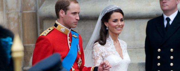 Prinz William und Herzogin Kate bei ihrer Hochzeit 2011 in London