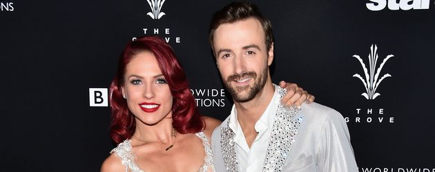 "Profi-Tänzerin Sharna Burgess und James Hinchcliffe beim Finale von ""Dancing with the Stars"""