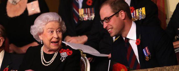 Queen Elizabeth II. und Prinz William