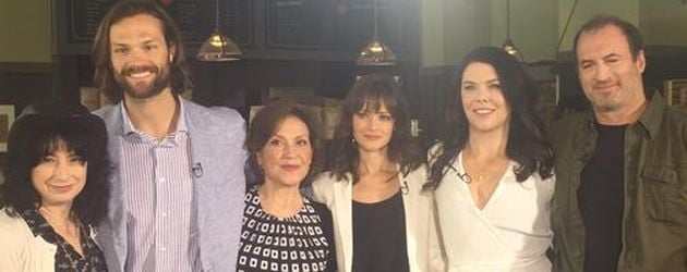 Alexis Bledel, Lauren Graham, Jared Padalecki, Kelly Bishop und Scott Patterson